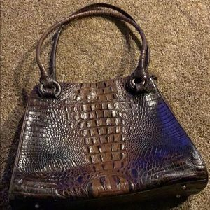 Brahmin brown purse with magnetic opening